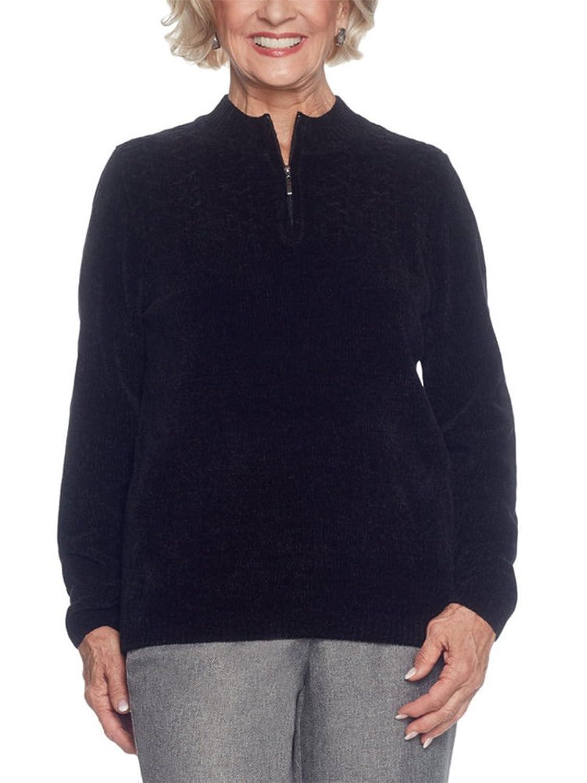 Alfred Dunner Petites' Quarter Zip Sweater
