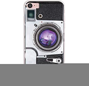 """CasesByLorraine Compatible with iPhone SE 2020 / iPhone 8 / iPhone 7 Case, Vintage Style Camera Flexible TPU Soft Gel Protective Cover for iPhone SE 4.7"""" (2020), iPhone 7 4.7"""" / iPhone 8 4.7"""""""