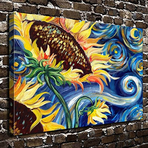 COLORSFORU Wall Art Painting Sunflower Prints On Canvas