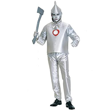 rubies costume co mens wizard of oz tin man costume silver metallic - Amazon Halloween Costumes Men