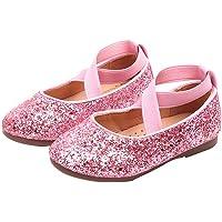 FENICAL Banda elástica para niñas Zapatos de baile de cristal para niñas Zapatos de baile de cuero para niñas Zapatos de baile con diamantes de imitación Zapatos de baile con brillo de niña Zapatos de princesa Zapatos de rendimiento