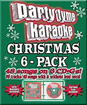 Christmas Karaoke Cd.Party Tyme Christmas 6 Pack 48 48 Song Party Pack