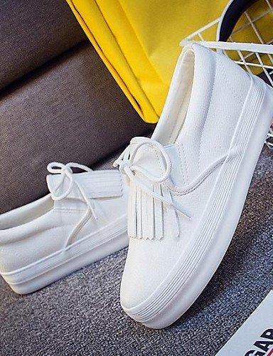 5 Cn37 Zq Eu37 Black 5 us6 Casual Blanco Plataforma De Comfort Zapatos Punta Uk6 Mujer Exterior Cn40 Mocasines Eu39 us8 Cerrada 7 Gyht Semicuero 5 5 White Negro 5 Uk4 rwqrC4g