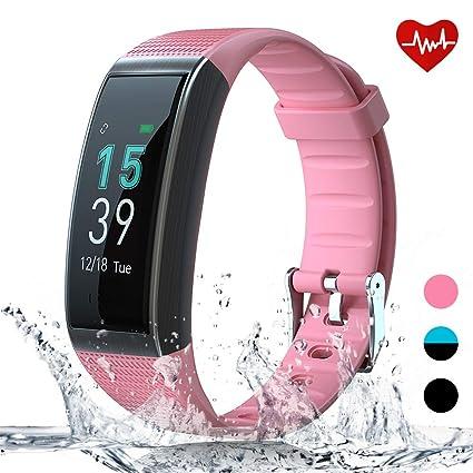 AKASO Pulsera Inteligente GPS de Actividad Deportiva Hombre Mujer Impermeable Fitness Smartwatch física Monitor de Ritmo Cardíaco Caloría Podómetro ...