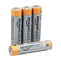 AmazonBasics AAA 1.5 Volt Performance Alkaline Batteries - Pack of 4