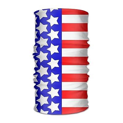 Shadidi Unisex American Flag Style Stars Stripe Multifunction Changed Headwear Headscarf Bandanas