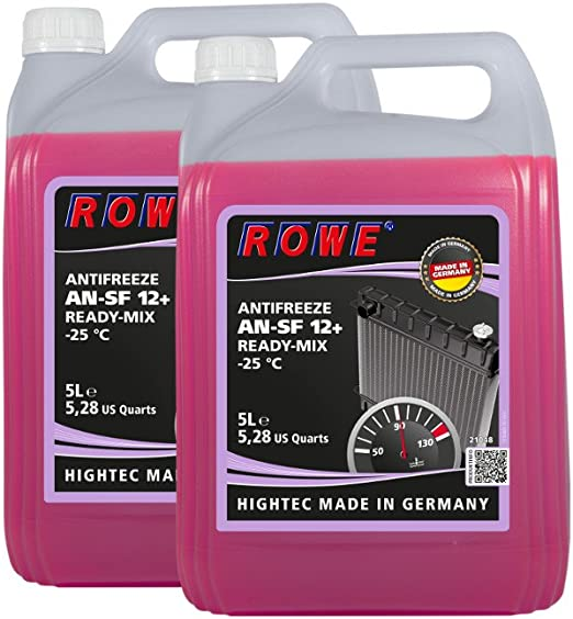 10 2x5 Liter Rowe Hightec Antifreeze An Sf 12 Ready Mix 25 C Auto