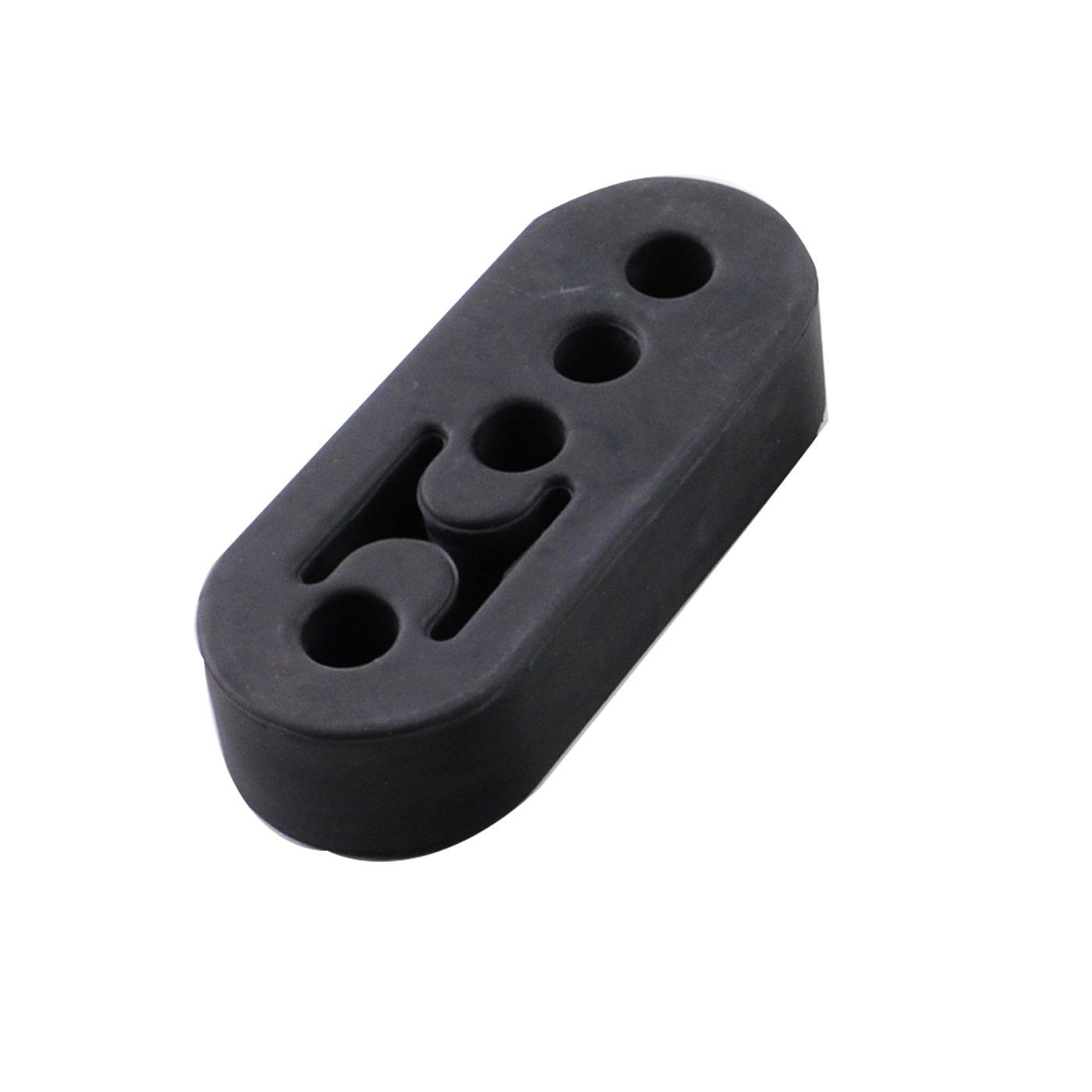 0.63 Black for 6AN Fuel Hose Aluminum Hex Hose Finisher Clamp Hose OD 16mm