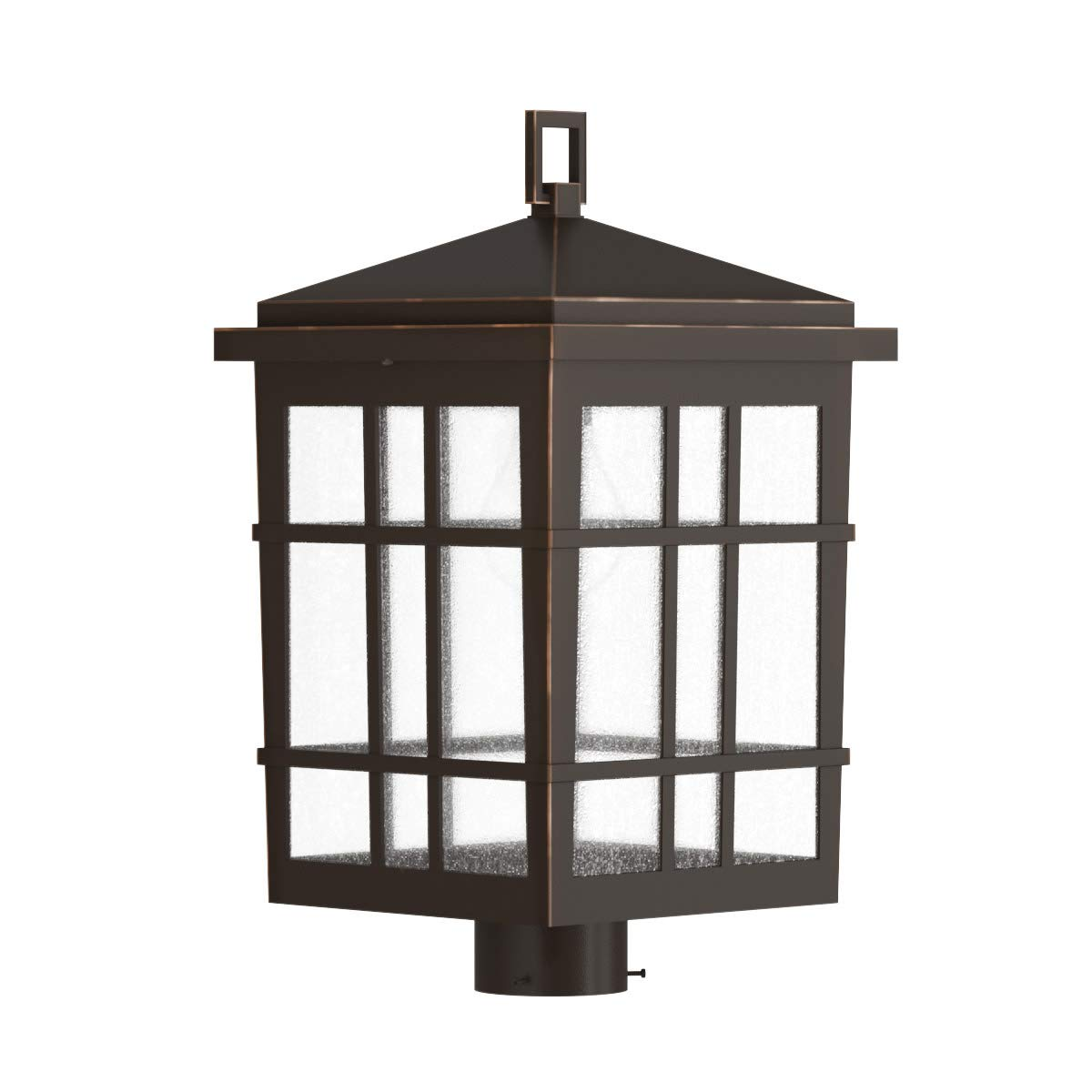 Park Harbor PHEL3303ORB Ambler Single Light 18-3/16'' High Outdoor Single Head Post Light with Seedy Glass Shade by Park Harbor (Image #1)