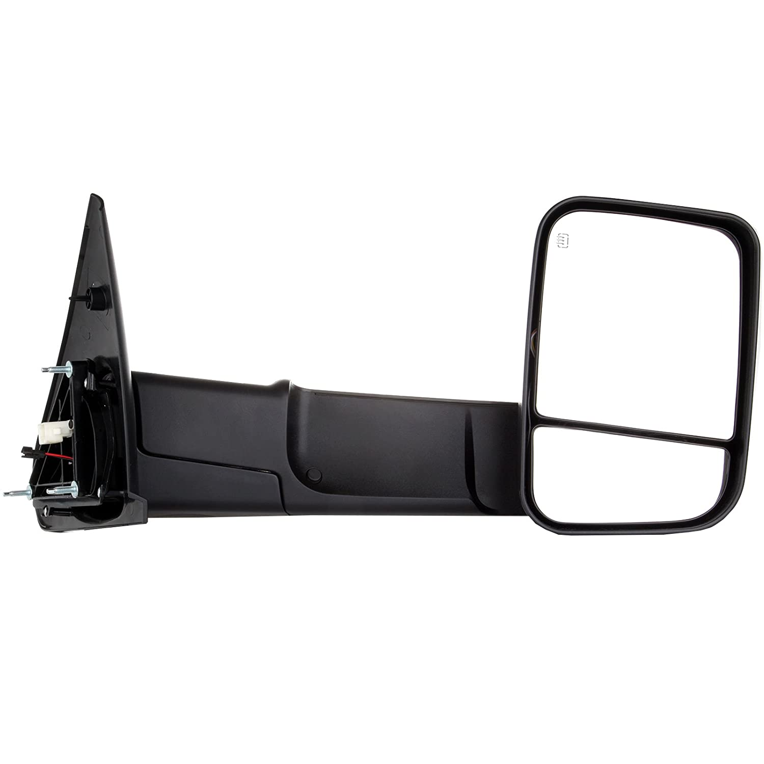 SCITOO Towing Mirrors fit Dodge Ram High Perfitmance Exterior Accessories Mirrors fit 1998-2002 Ram 1500 Ram 2500 Ram 3500 Power Controlling Heated Manual Flipping up Telescoping Features 050724-5206-1727581