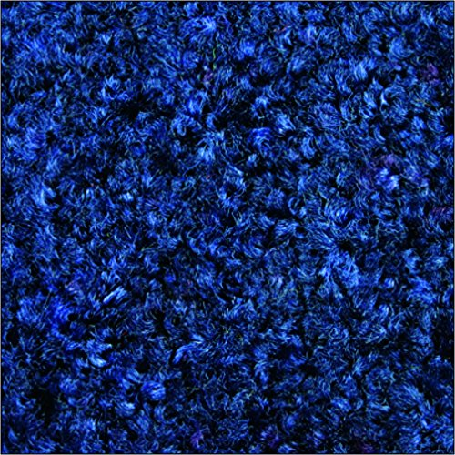Tri-Grip Durable Rubber-Backed Nylon Carpeted Entry/Interior Mat 4' Length x 3' Width, Midnight Blue by M+A Matting