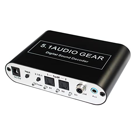 Digital 5.1 Audio Gear Digital Sound Decoder Converter Dolby Dts/ac-3 Optical To