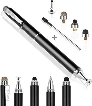 2-IN-1 STYLES with Touchscreen Ballpoint Pen Black ONN 18D