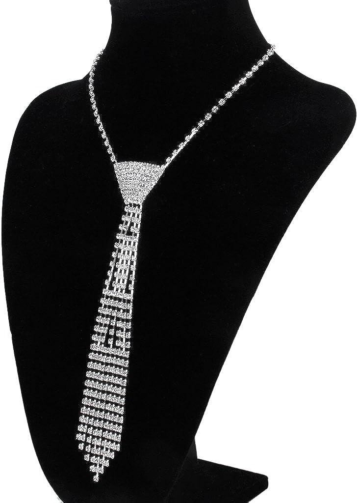 Cristal Borlas Corbata Rhinestone Collar De La Joyería Nupcial De ...