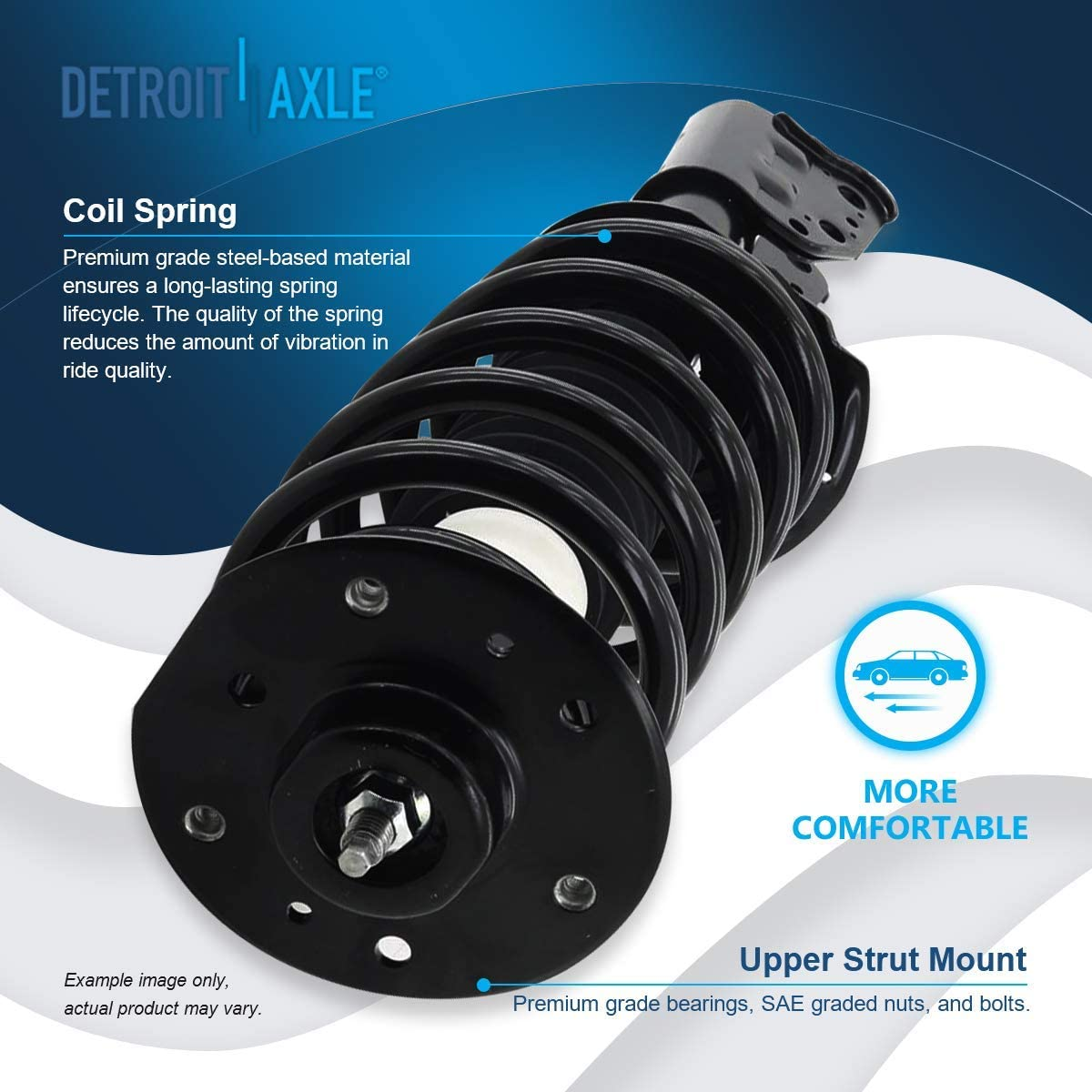 Note: AWD, EXCLUDES 19 WHEELS AND SPORT SUSPENSION - FULLY ASSEMBLED READY TO INSTALL 2008 For Pontiac Torrent Base Front Complete Struts Assembly x 2