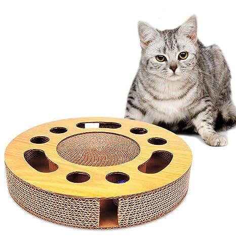 Rascador interactivo para gatos con pelotas: Amazon.es: Hogar