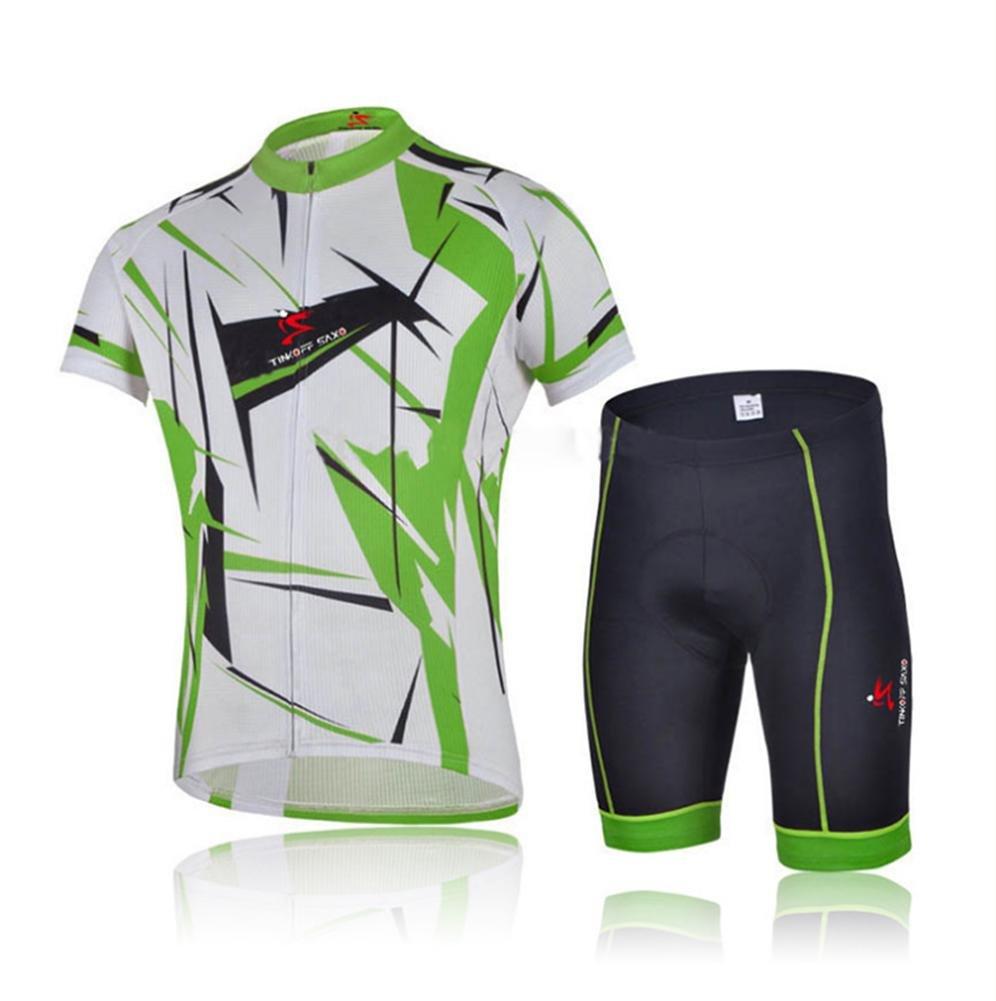 Beauty leader Herren Short Sleeves Radtrikot mit Trägerhose - Bike Clothing Suits Atmungsaktive Anzüge