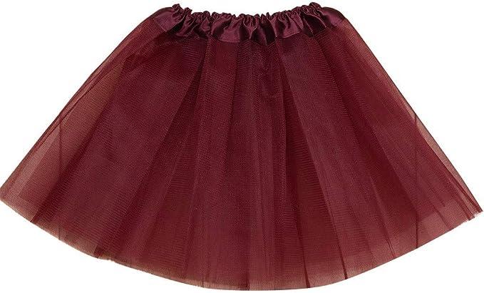 Cinnamou Falda de Color Liso Niña Tutu Princesa Fiesta Disfraz de ...