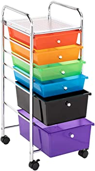 Lovinland 6 Drawer Rolling Multi-Purpose Storage Cart