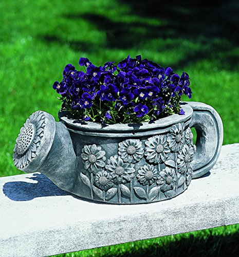 Campania International P-315-AS Watering Can Planter, Alpine Stone Finish by Campania International