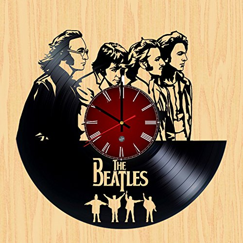 The Beatles Vinyl Record Wall Clock - Decorate your nursery with Modern Art - Best unique gift for girlfriend and (Modern Vinyl)