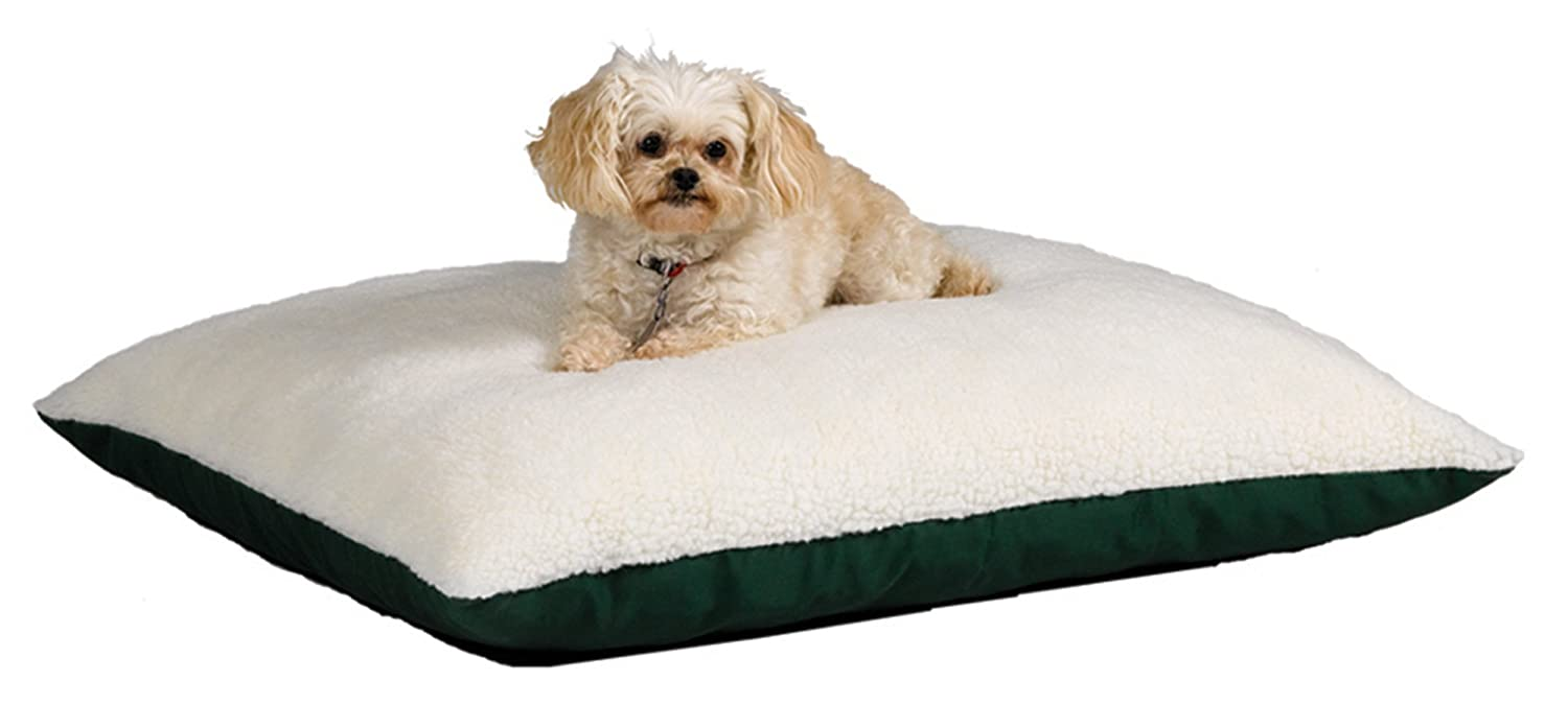 Green 36\ Green 36\ Midwest Quiet Time e'Sensuals Memory Foam Reversible Synthetic Sheepskin  Embossed Paw Print   Bone Design Pet Beds 36-Inch by 48-Inch (Forest Green)