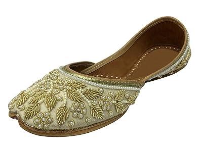 8c74f60e8c78 Step n Style Bridal Flats Wedding Shoes Indian Designer Shoes Punjabi Jutti  Mojari Juti