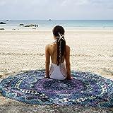 Handicrunch Indian Mandala Round Free Spirit Roundie Beach Throw Tapestry Hippy Boho Gypsy Cotton Tablecloth Beach Towel , Round Yoga Mat