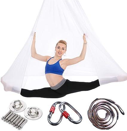 JIALFA Aerial Hamaca de Yoga, Silk Yoga Swing para Yoga antigravedad, Ejercicios de inversión, Flexibilidad Mejorada y Resistencia del núcleo - ...