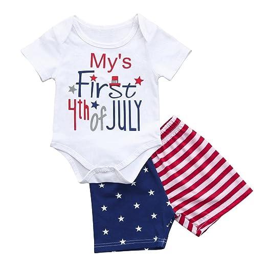 6fbcdb54a Amazon.com  Fanteecy Newborn Infant Baby Boys Clothes Set Letter ...