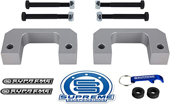 6-Lug Front Leveling Kit for 2007-2020 Chevrolet Silverado 1500 and GMC Sierra 1500 Supreme Suspensions 1 Front Lift High-Density Delrin Bottom Strut Spacers 2WD 4WD