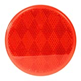 "Grand General 80814 Round Red 3"" Stick-On Reflector for Trucks, Towing, Trailers, RVs and Buses, 1 Pack"