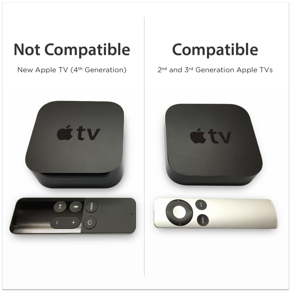 TotalMount Apple TV Mount (Compatible with 2nd and 3rd generation Apple TVs)