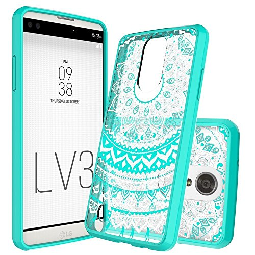 LG Aristo Case, LG Fortune/Phoenix 3/ MS210/ M210/ k8 2017/Risio 2/ Rebel 2 LTE Case Clear,Anoke Cute Thin Slim Mandala Protective Cell Phone Cases Cover with Screen Protector for Girls LG LV3 Mint
