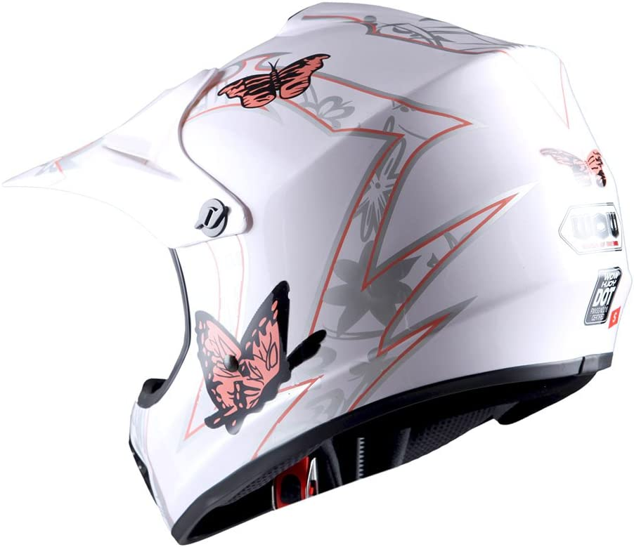 WOW Youth Kids Motocross BMX MX ATV Dirt Bike Helmet Spider Black