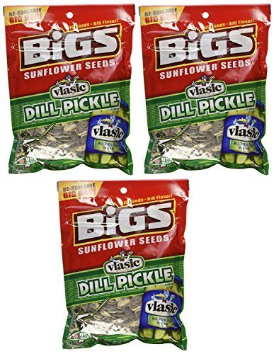 Bigs Sunflower Seeds - Vlasic Dill Pickle - 5.35 Ounce Pack of 6  by BIGS