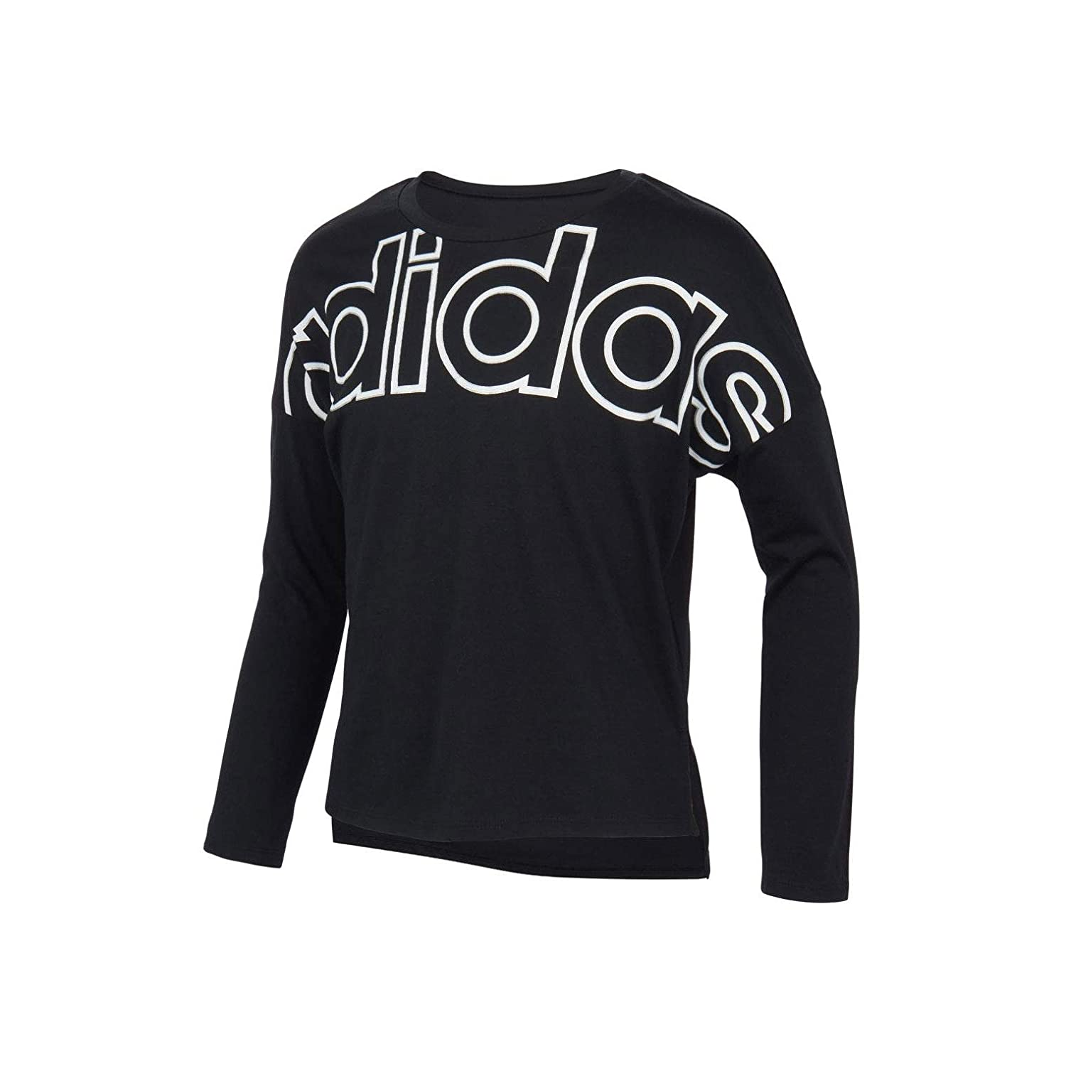 adidas Girls Long Sleeve Cropped Tee T-Shirt