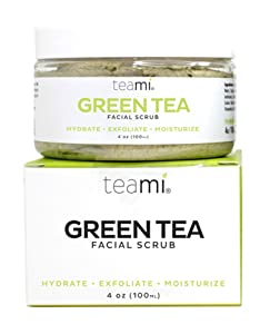Teami Detox Face Scrub - with Green Tea - Exfoliate, Hydrate, and Moisturize All Skin Types