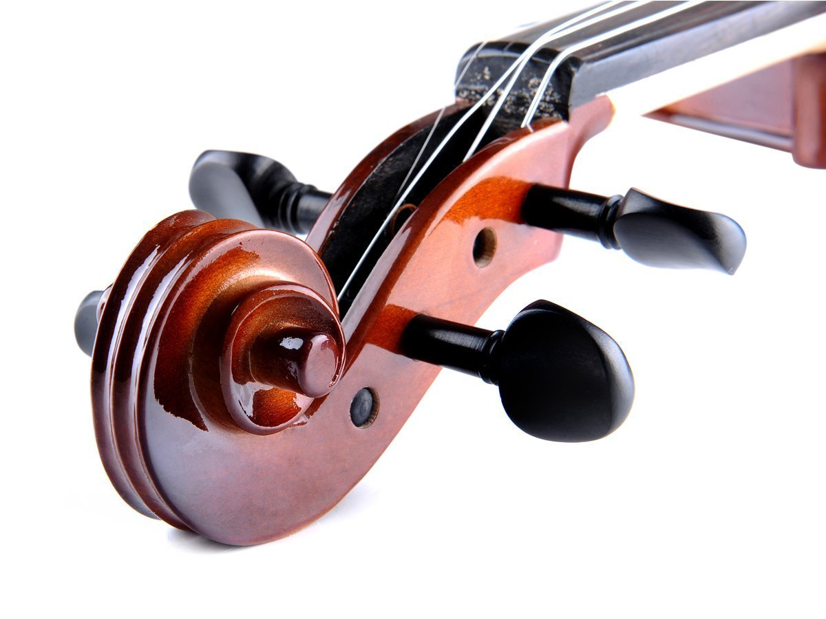 ADM Acoustic Violin 1/2 Size with Hard Case, Beginner Pack for Student, Red Brown by ADM (Image #3)