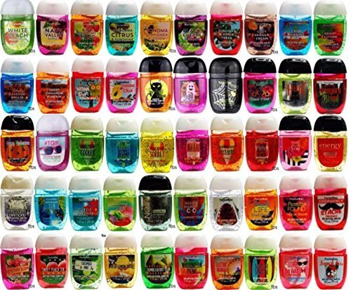 Bath and Body Works Anti-Bacterial Hand Gel 10-Pack PocketBac Sanitizers, Assorted Scents, 1 fl oz each -