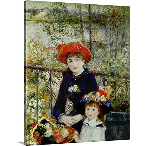 Pierre Auguste Renoir Premium Thick-Wrap Canvas Wall Art Print entitled Two Sisters, or On The Terrace, 1881 ()