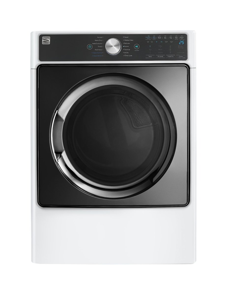 Kenmore Smart 9.0 cu. ft. Electric Dryer with Accela Steam Technology in White - Compatible with Alexa, includes delivery and hookup -26-81982 Sears Brands Management Corporation (Kenmore)