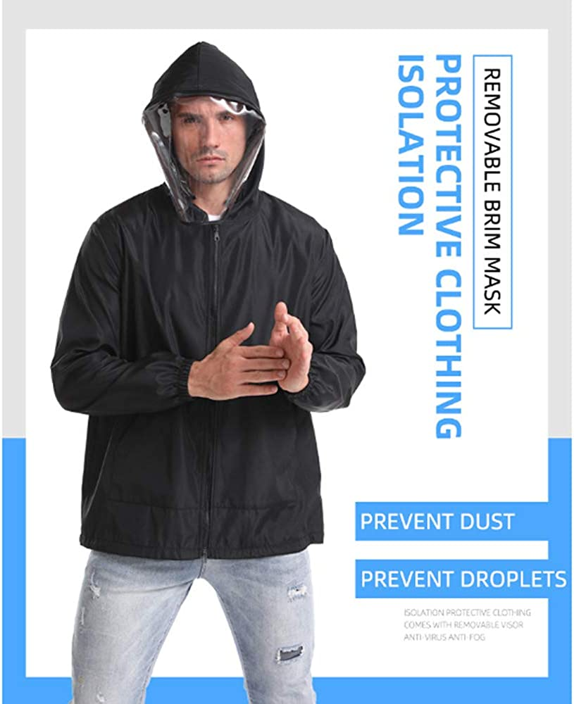 BRIGHT MOON Outdoor Protective Coat for Men//Women Reusable Protective Clothing for Outdoor Civil General Protective Gowns