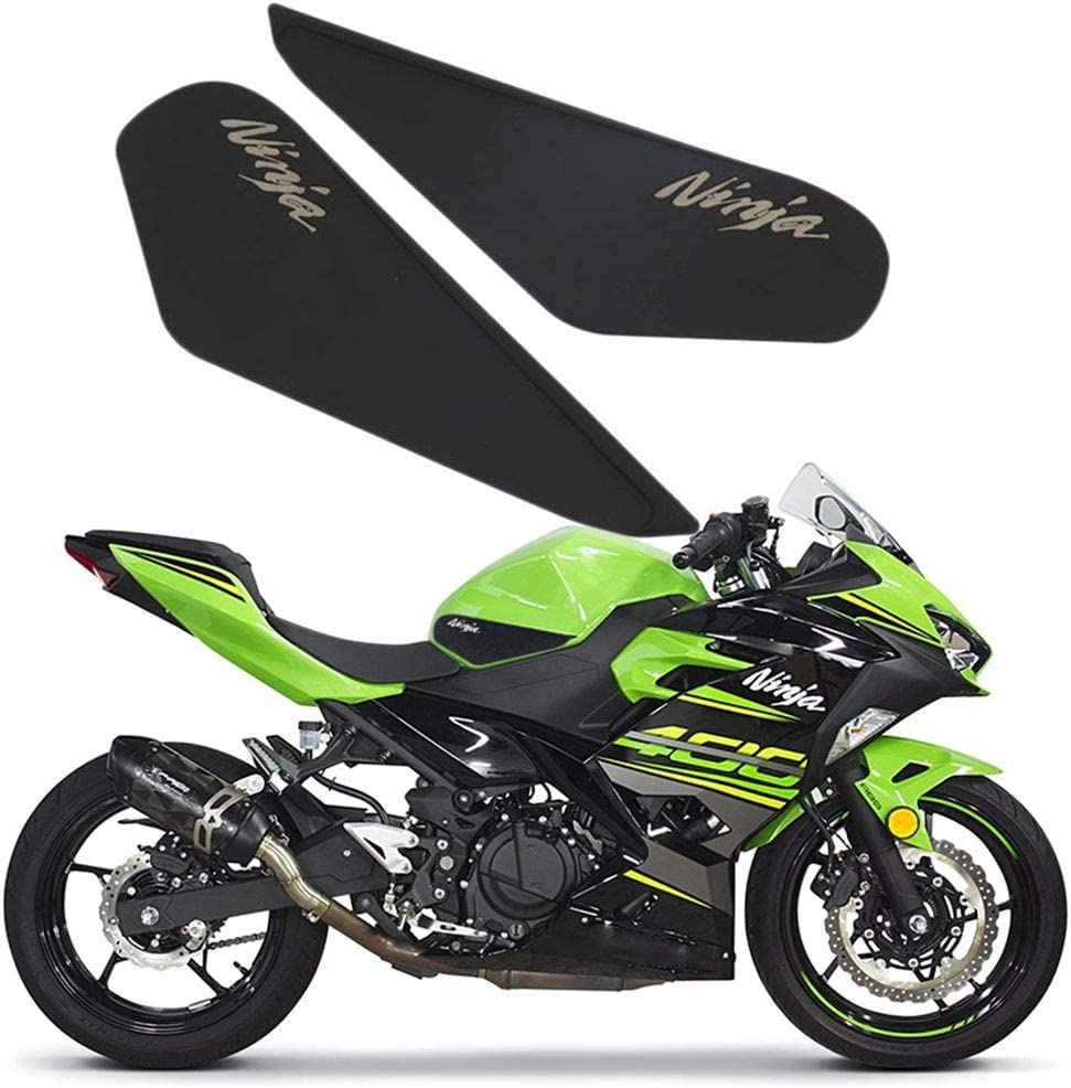 Gas Tank Pad Traction Side Fuel Grips Decal Gas Fuel Knee Grip Protector Anti Slip Stickers for 2017 2018 2019 NINJA 400