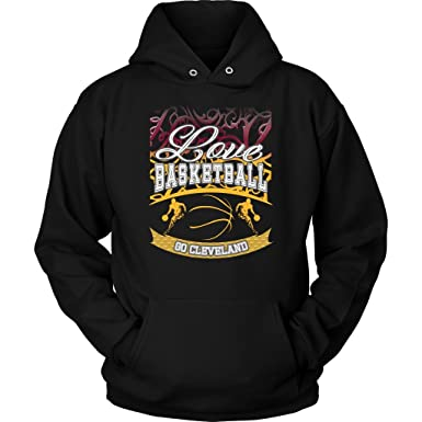 4eb13b97c1a Love Basketball Go Cleveland Fan Gift Gradient Vines Cool Hoodie for ...