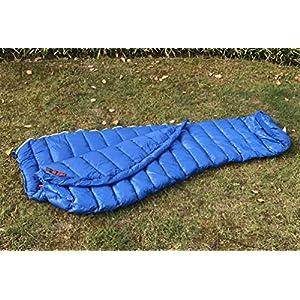 AEGISMAX Urltra-Light Goose Sown Sleeping Bag Spring Autumn Urltra-compactable Sleeping Bag Mummy Sleeping Bag /Blue/200cm86cm