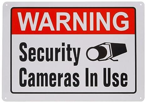 1-PCS aluminio Metal cartel de aviso VIDEO vigilancia cámaras de seguridad en uso