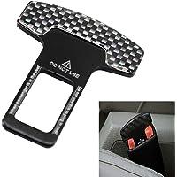KKmoon Carbon Fiber Car Safety Seat Belt Buckle Clip Car-Styling 1pcs Universal Vehicle Mounted