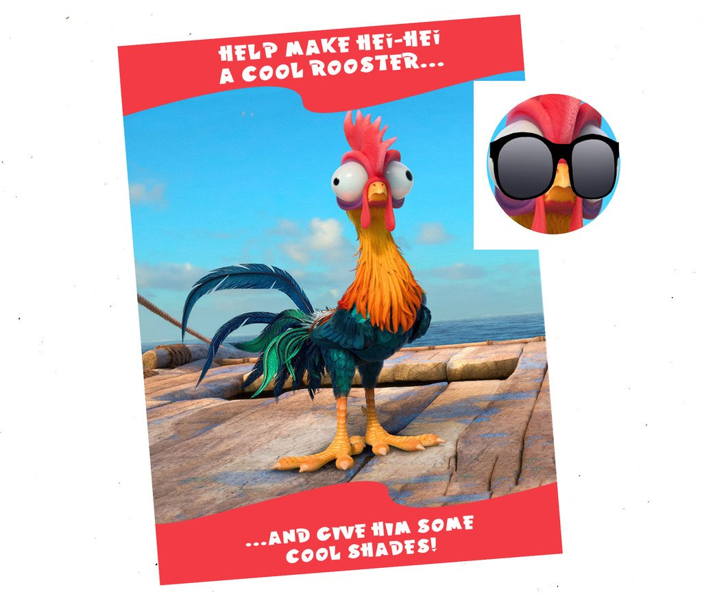 HEI HEI Themed Party Supplies Game - Pin The Shades on HEI HEI