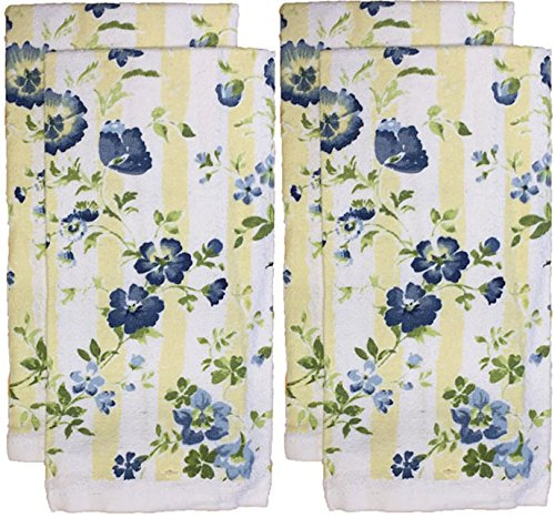 Set of 4 Everyday Basic Printed Terry Kitchen Towels Size : 15